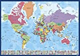 Grupo Erik Editores tsept012schulischen–Schreibunterlage mit Motiv Weltkarte