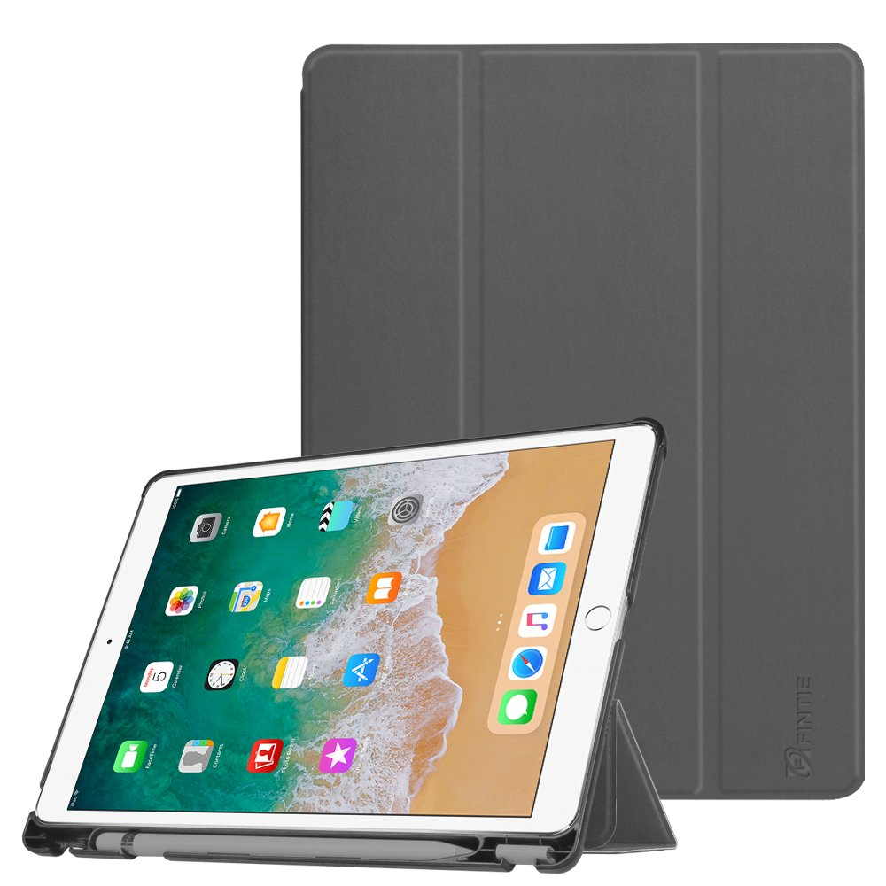 for ipad pro 10 5 case fintie slim cover with apple pencil holder space grey 696230151430 ebay. Black Bedroom Furniture Sets. Home Design Ideas