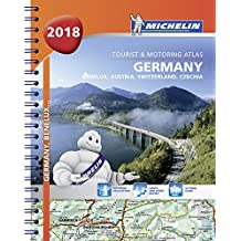 Germany Benelux Austria Switzerland 2018 -Tourist & Motoring Atlas: Tourist & Motoring Atlas A4 spiral (Michelin Road Atlases)