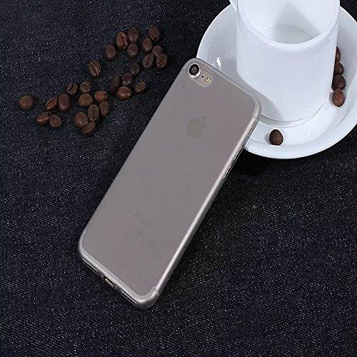 iPhone Transparente Matte TPU Kunststoff Telefon Hülle/Case Gel TPU Abdeckung für iPhone 5 / 5s / SE mit Display Schutz / EJC Avenue / Gelb Grau