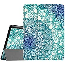Fintie Samsung Galaxy Tab S2 9.7 Funda - Ultra Slim Smart Case Funda Carcasa con Stand Función y Auto-Sueño / Estelar para Samsung Galaxy Tab S2 9.7 pulgadas SM-T810N SM-T815 (Emerald Illusions)