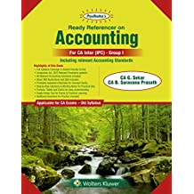 Padhuka's Ready Referencer on Accounting: for CA Inter/IPC Old Syllabus