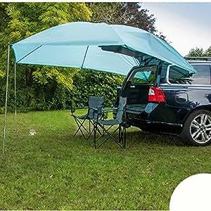 Voile d'ombrage 300 x 200 cm avec 2 ventouses pour fixer sur les voitures, avec tiges - 2 x 3 m lot de 2 pare-soleil avec pare-soleil auvent sonnenvordach barres