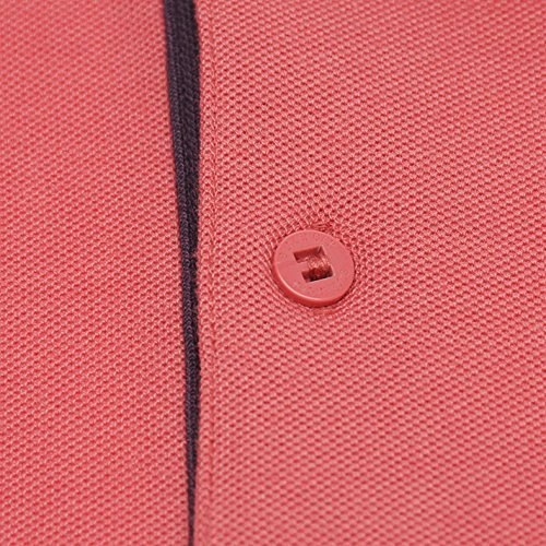 Slazenger Herren Polo Shirt Kurzarm Streifen Details Slate Pink