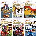 "Hot Wheels 6 Stk Sonderediton Beatles ""YELLOW SUBMARINE"" - 6 Fahrzeuge im Maßstab 1 : 64 von California"