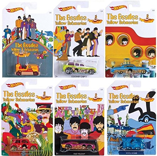 Hot Wheels - The Beatles Yellow Submarine - Limited Edition Set of 6 Diecast by California