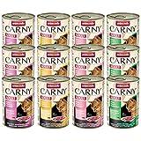 Animonda Carny Adult Katzenfutter Mix2, Nassfutter für erwachsene Katzen, 12er Pack (12 x 400 g)