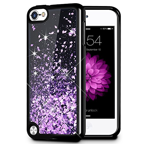 iPod Touch 5/6 Fall, caka iPod Touch 6 Glitter Case [Starry Night Serie] Fashion Bling Flüssigkeit Schwimmende Sparkle Glitzer Girly TPU Bumper Schutzhülle für iPod Touch 5/6 -, violett - Ipod-touch-fall 5 Lila