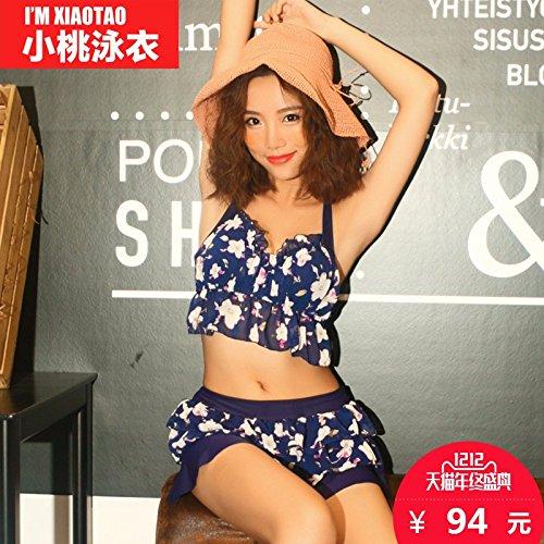 ZHANGYONG*Stilvolle Mädchen gestanztem Stahl und Bikini 3 Stück sammeln, XL, Rosa (Stück Carters 3 Rosa)