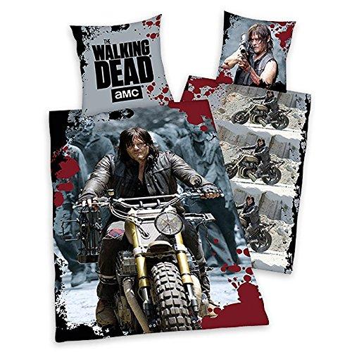 The Walking Dead Wendebettwäsche Daryl's Ride- Bettwäsche aus Linon/ Baumwolle (80x80/135x200cm)