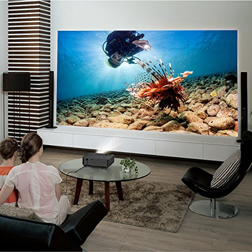 Beamer, ELEPHAS LED Mini Beamer Projektor mit 1500 Luminus Efficiency Tragbarer Heimkino Multimedia LCD Projector Unterstützung 1080P HDMI AV VGA USB Audio für PC Laptop iPhone Smartphone TV Box und PS4 XBOX, Schwarz -