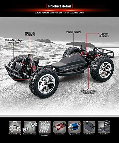 RC Auto kaufen Buggy Bild 4: TOZO RC Car, C5032 High Speed 32MPH 4x4 Schnelle Rennwagen 1:12 RC Autos Skala RTR Racing 4WD Elektrische Power Buggy w / 2.4g Radio Fernbedienung Off Road lkw Powersport (Schwarz)*