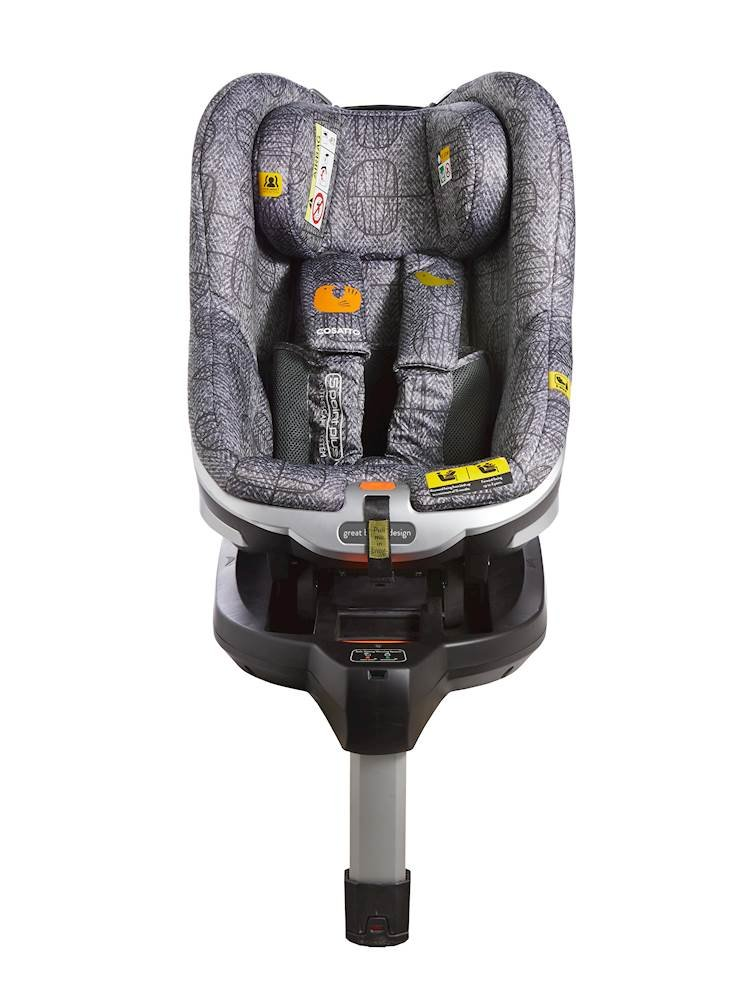Cosatto Den i-Size Car Seat, Dawn Chorus, Birth to 18 kg Cosatto Rearward facing from birth to 15 months (83 cm child height) for extended protection; then forward facing from 71 cm child height up to 95 cm (approximately 3 years) Den has a built in electronic safe-fitting warning system, with a light and sound feature to prevent incorrect seat fitting One-handed simultaneous harness and headrest adjuster, allows to for easy adjustments without needing to rethread the harness in order to adjust the headrest 1