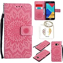 Coque PU Samsung Galaxy A5 2016 Case Wallet Phone Stand Cover with Credit Card Slots Flip Protective Case For Samsung Galaxy A5 2016 A510 -photo Frame Keychain (*/17)