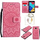 Coque PU Samsung Galaxy A5 2016 Case Wallet Phone Stand Cover with Credit Card Slots Flip Protective Case For Samsung Galaxy A5 2016 A510 -photo Frame Keychain (*/17) (2)