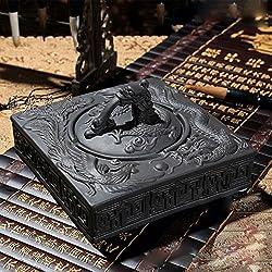 MDRW-Los Fumadores Deben Purple Arena Dragon Y Phoenix Cenicero Cenicero De Cerámica Con Tapa Creativa De Estilo Europeo