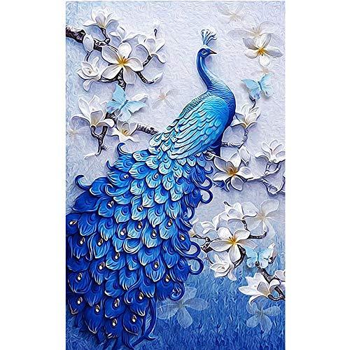 T-YXM DIY 5D Diamond Malerei Blaue Tail Pfau volle Bohrer Kristall Stickerei Bilder Handwerk für Home Decor
