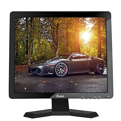 "Eyoyo 15"" Zoll Monitor 1024x768 1080P TFT LCD CCTV HDMI HD Monitor Farbdisplay Bildschirm mit BNC/VGA/AV/HDMI/USB Kopfhörer Ausgang, eingebaute Lautsprecher (15'' 1024x768)"