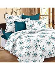 Ahmedabad Cotton Comfort 160 TC Cotton Double Bedsheet with 2 Pillow Covers - Blue