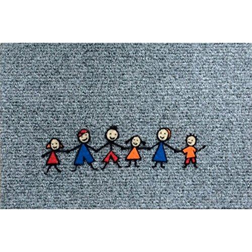 Türmatte Superstep - Fussmatte lustige Kinder Kindergruppe ca 40x60 cm (Lustige Kinder Ca)