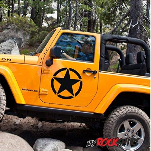 2x ALTA CALIDAD Estrella US Army Skull 30cm Willys Willy US Army Jeep-Adhesivo para coche, pared, pared adhesivo, barniz, barcos y todas las superficies lisas, geplottet sin fondo de alto rendimiento pantalla, muchos colores a elegir, bicicleta, Biker, coche, diseño,