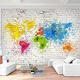 Fototapete Weltkarte Bunt - Vlies Wand Tapete Wohnzimmer Schlafzimmer Büro Flur Dekoration Wandbilder XXL Moderne Wanddeko - 100% MADE IN GERMANY - 9271010b