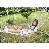 WYM Outdoor-Hängematte Mesh Single Indoor Erwachsenen Kinder Schwingen Hängende Baum Schlafen Net aus Bett Plus Baumwolle Seil Super Licht