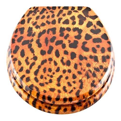 Georges WC-Sitz mit Absenkautomatik in verschiedenen Designs - Edition 2019 - neu und verbessert (leopard) - Neu In Leopard