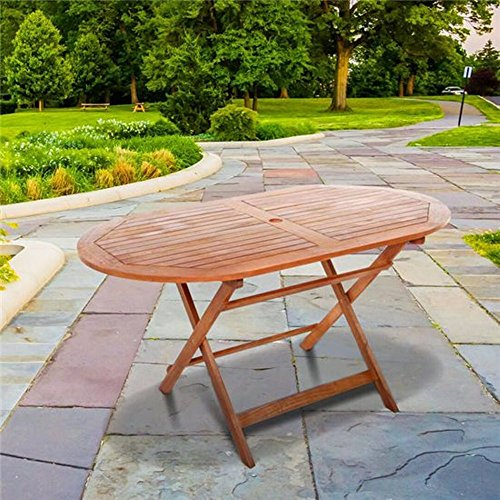 BillyOh Durable Acacia Hardwood Lightweight and Portable Windsor 1.4m Oval Folding Garden Table