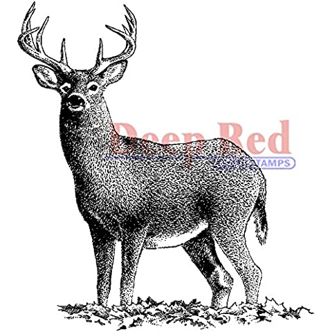 Deep Red Stamps Espuma Cling 2.5-inch X 3-inch-buck diseño de ciervo