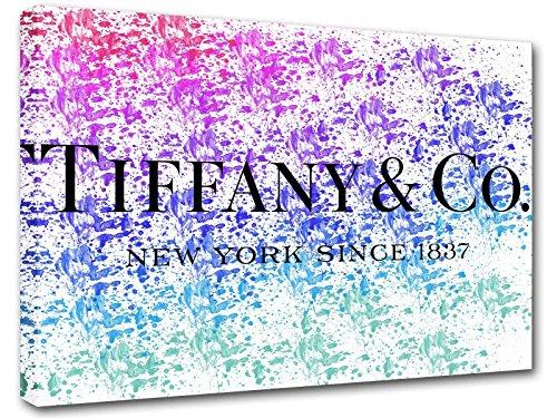 Kuader Gemälde Inspiriert Von Tiffany Co Spritzer Farbe Tiffany Bild Druck Auf Leinwand Für Den Innenausbau Tfo14, 50x70 cm