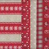 Stoffpaket (Weihnachten) - Rot, Weiß, Ecru und Perlweiß |