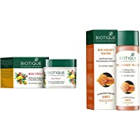 Biotique Bio Fruit Whitening And Depigmentation & Tan Removal Face Pack, 75g And Biotique Bio Honey Water Clarifying Toner, 120ml