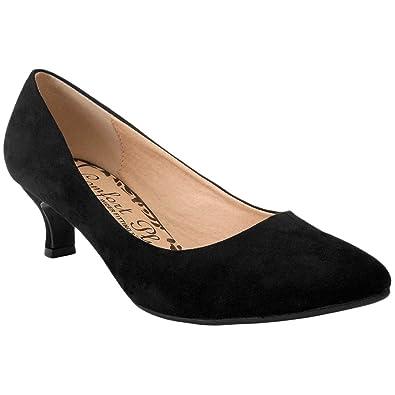 myshoestore Comfort Plus® Ladies Kitten Heels Womens Flexi Sole ...