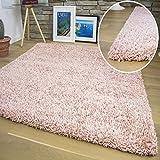 Shuja Teppich - Shaggy Hochflor Langflor Teppiche in versch. Farben & Größen: Rose 160x230