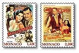 Filmklassiker mit Grace Kelly  zwei Briefmarken  Monaco   postfrisch  US-amerikanische Filmschauspielerin  Oscar-Preisträgerin  Filmplakat