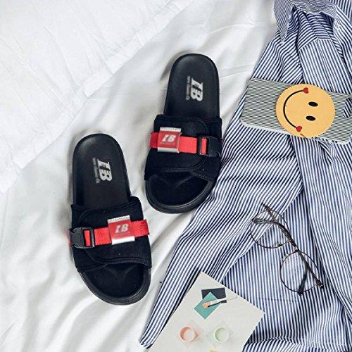 Pantoufles Hommes Printemps / Eté Sandales Chaussures De Plage Vietnam Natation Pantoufles Couples Intérieur Slip Shoes red