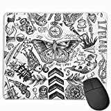 One Direction Tattoos Gaming Mouse Pad Non-Slip Rubber Mouse Mat for Computers Desktops laptop 9.8' x 11.8'