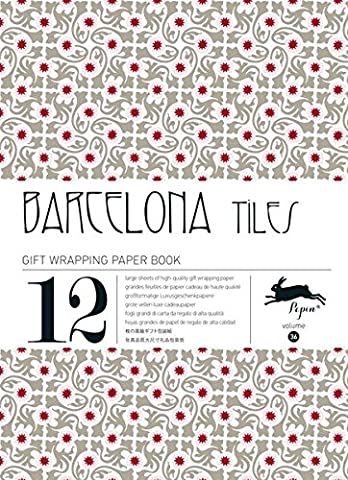 BARCELONA TILES: gift and creative paper book Vol.36 (Gift Wrapping Paper Book)
