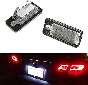 Gzcrdz 2 X 18 Led Auto Lizenz Kennzeichen Licht Lampe Für A3 S3 A4 S4 B6 A6 S6 A8 S8 Q7 Auto