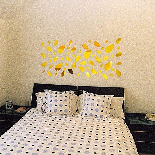 Zegeey 3D Spiegel Vinyl Removable Wandaufkleber Aufkleber Home Decor Art DIY 12Pcs