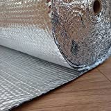 Yuzet 1711 1.2 x 25 m Double Aluminium Bubble Insulation Foil for Thermal Loft Roof Attic Wall by Yuzet