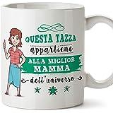 Mugffins Tazza Mamma - Questa Tazza appartiene alla miglior Mamma dell'Universo - Tazza Originale in Ceramica Idea Regalo Fes