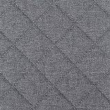 Möbel Polster Bezugs-stoff Sawanna Karo gesteppt Struktur Web-stoff Meterware melange fein gewebt Grey