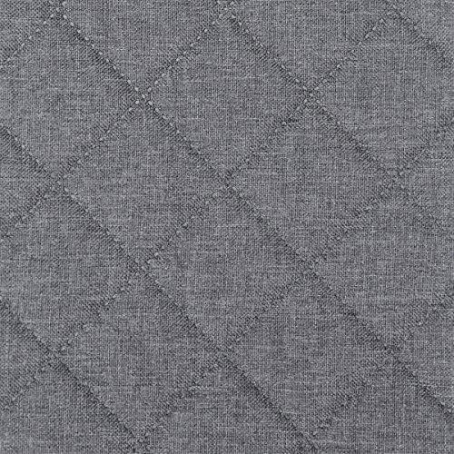 Möbel Polster Bezugs-stoff Sawanna Karo gesteppt Struktur Web-stoff Meterware melange fein gewebt Grey -