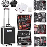 TRESKO Werkzeugkoffer 859 teilig | Werkzeugkasten | Werkzeugkiste | Werkzeugtasche | Werkzeug Set | Werkzeug-Trolley | Chrom-Vanadium Stahl