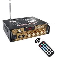 docooler 600W LCD Amplificatore,con Riverbero HiFi Audio Stereo BT FM Radio Mini Display 2CH Potenza Audio Stereo Auto…