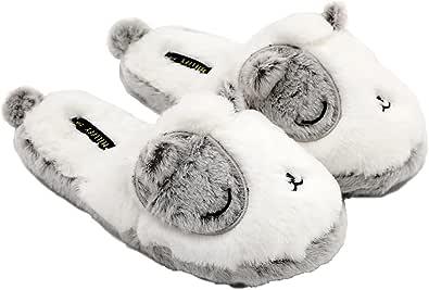 Pantofole unicorno animali di peluche | Cute Rainbow Llama Peluche Pantofole | Scarpe da casa in peluche di alpaca | Pantofole soffici delle ragazze