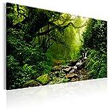 murando - Bilder 120x80 cm - Leinwandbild - 1 Teilig - Kunstdruck - modern - Wandbilder XXL - Wanddekoration - Design - Wand Bild - Wald Natur Bach c-B-0234-b-c