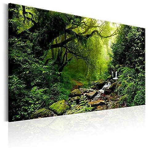 Impression sur toile 120x80 cm - 3 couleurs au choix - 1 Partie - Image sur toile – Images – Photo – Tableau - motif moderne - Décoration - tendu sur chassis - Gustav Klimt Abstrait Arbre c-B-0234-b-c 120x80 cm B&D